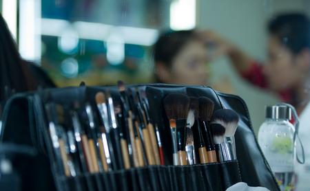 woman client at beauty parlour photo