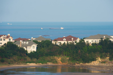 beach front: Luxurious Beach Front Homes on china Stock Photo
