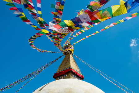Buddhist Monastery at Nepal photo