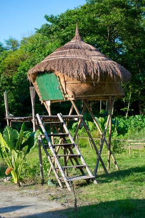 subsistence: traditional rural farm hut, Nepal