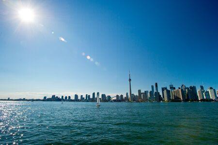 Toronto Skyline on Sunny Day on Lake Ontario photo