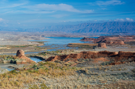 mead: Lake Mead panorama Stock Photo