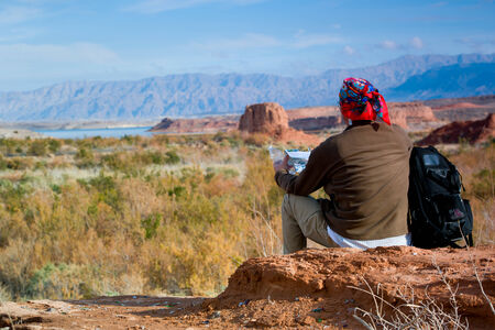 mead: Backpackers in  Lake Mead