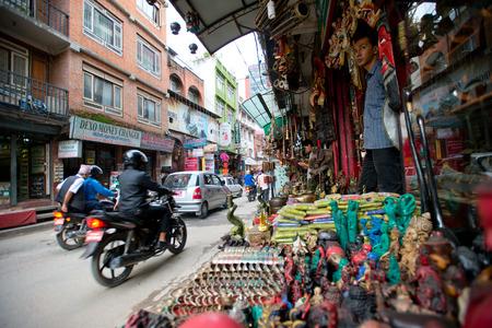 house robes: narrow street at Kathmandu market Editorial