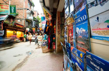 Kathmandu, Nepal map on the market
