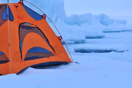 winter camp Stock Photo