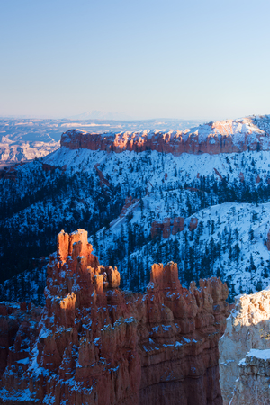 Summer sunrise in Bryce Canyon, Utah, USA. photo