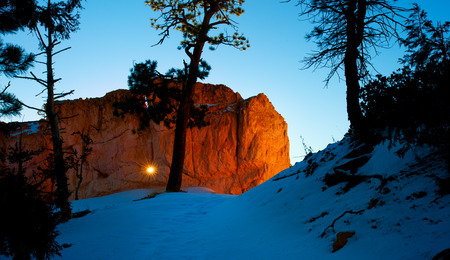 The sun came from a stone cave,Bryce Canyon Banco de Imagens