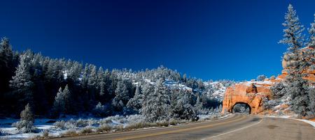 Winding Road at Red Canyon (close to Bryce Canyon National Park), Utah, USA photo