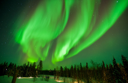 northern light: The northern lights stream across the arctic sky near Yellowknife, Northwest Territories in Canada.