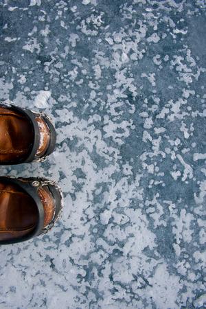 illustrated frozen ice texture Stock Photo