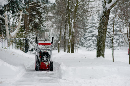 Snow Blower Stock Photo