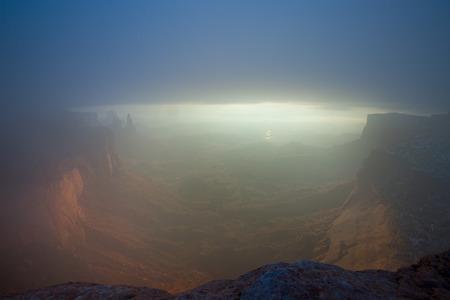 canyonlands: Canyonlands Fog Stock Photo