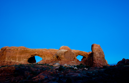 north window arch: Arches National Park Stock Photo