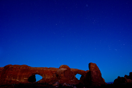 north window arch: Sunset at Arches National Park
