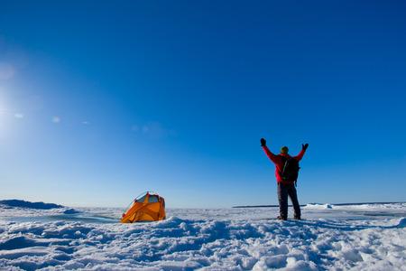 huron: One tent in  Huron Lake