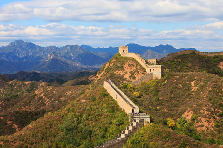 Great Wall of China in autumn Stok Fotoğraf