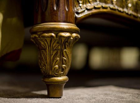 furniture part: Close-up furniture feet