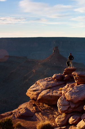 upperdeck view: Man standing on Canyonlands National Park