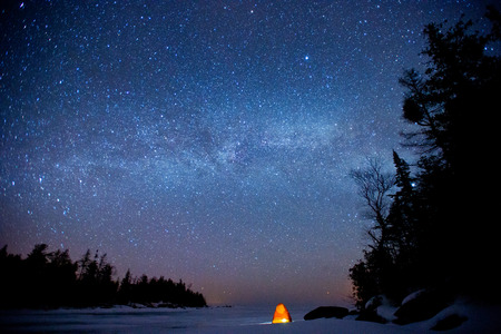 milkyway: Scenery of milkyway at the middle of the night.