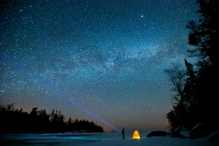 red star: Milky Way and bruce peninsula