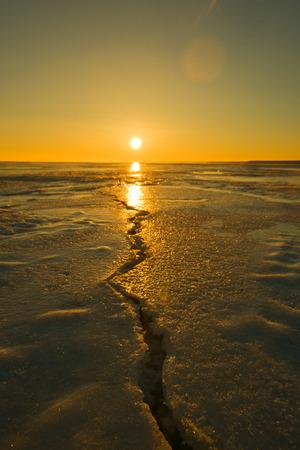 Sunrise on Lake Huron Stok Fotoğraf