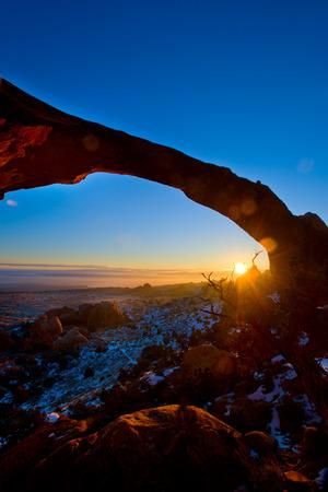 garden of eden: Landscape Arch in Arches National Park, Utah Stock Photo