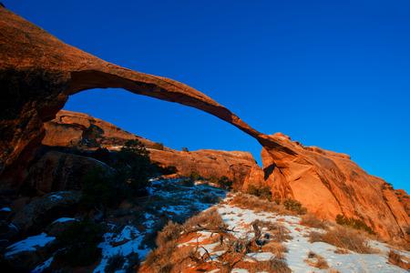 natural bridge state park: Landscape Arch in Arches National Park, Utah Stock Photo