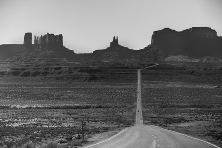 driving through Monument Valley photo