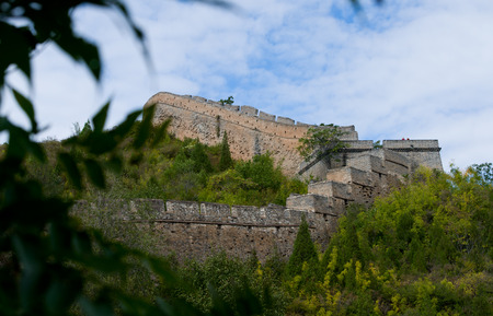 Badaling Great Wall with autumn leaves photo