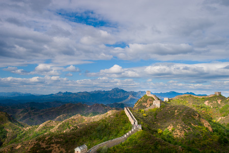 great: Badaling Great Wall with autumn leaves