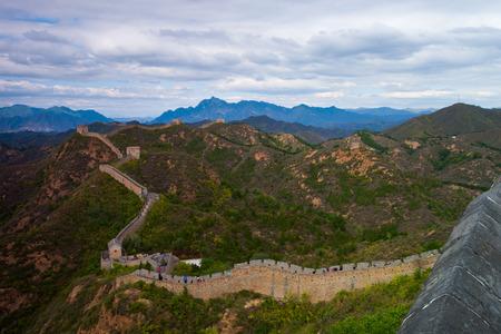 badaling: Badaling Great Wall con foglie d'autunno