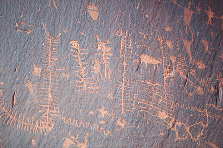famous paintings: Famous prehistoric rock paintings Stock Photo