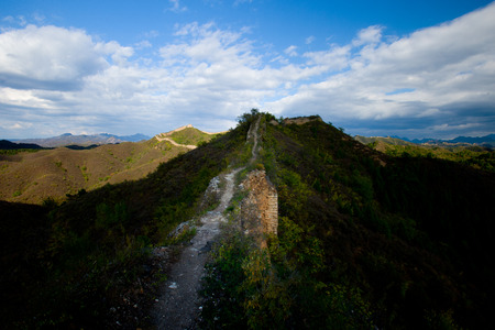 simatai: China Great Wall and the collapse of old Stock Photo