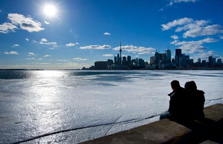 ontario: People sat watching the Toronto, Ontario