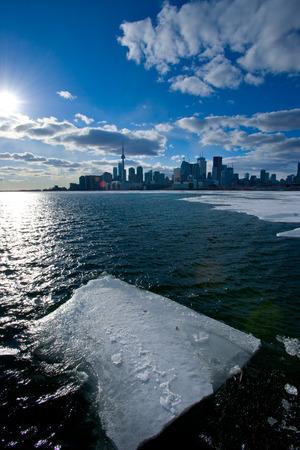 ontario: Winter in Toronto, Ontario ice melting