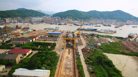 shiprepair: Repair of ships in dock, china Stock Photo