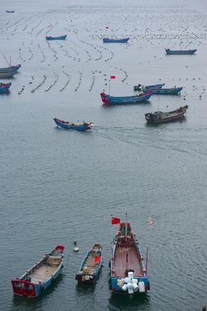 fish farm: Fish farm in Adriatic sea, china Stock Photo