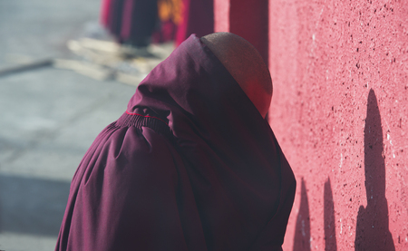 Tibetan Buddhist monks in the Sichuan Buddhist College, Sade China