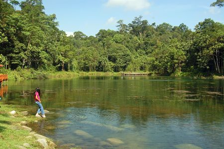 tourist spot: This is an small crysral clear lake which located in Bukit Cerakah, Malaysia. this place also is a tourist spot