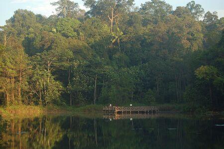 bukit: Bukit Cahaya, Selangor, Malaysia, May 10, 2010 - a lake landscape at Bukit Cerakah lake