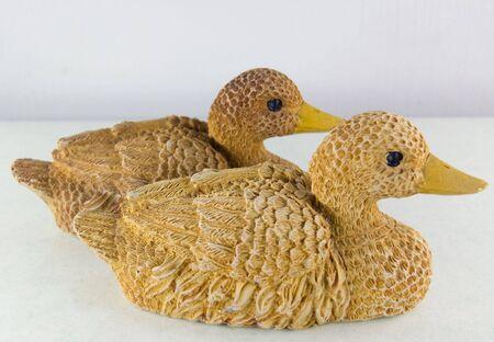 couple of clay ducks Stock Photo