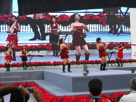 canto: Guangzhou, China - October 18, 2010 : China Import and Export Fair 2010 - stage performance by the local chinese band