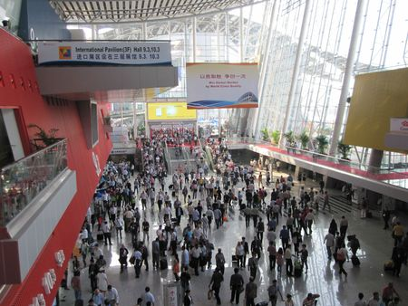 Guangzhou, China - October 18, 2010 :  China Import and Export Fair 2010 ( Canto Fair ), the ariel view of Area B        Editorial