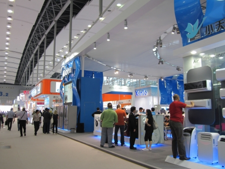 canto: Guangzhou, China - October 18, 2010  : China Import and Export Fair 2010, the electrical appliances section
