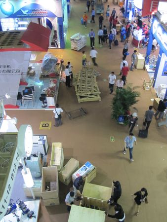 Guangzhou, China - October 19, 2010  : China Import and Export Fair 2010, the packing at the end of the show