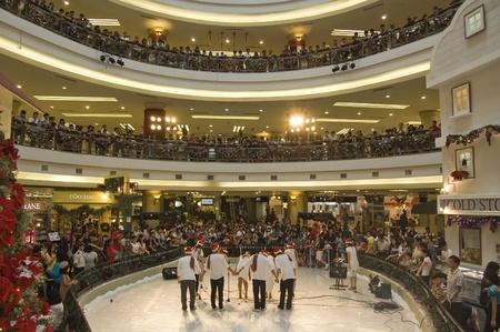 Selangor, Malaysia, December 25, 2010 - Christmas Caroling Performnce at One Utama Shopping Center Editorial
