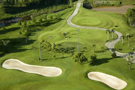 ariel: Malaysia Selangor Bukit Jalil Golf Course, February 23, 2011 -  the  ariel view of the golf course Editorial