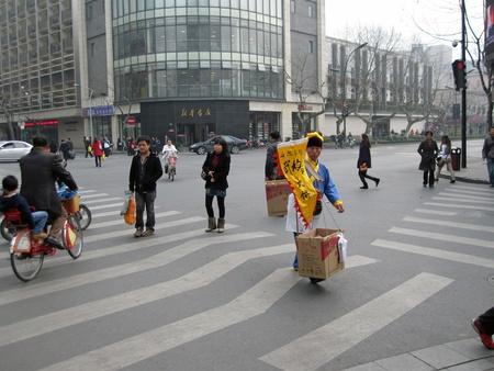 Hangzhou, Chine, 13, mars 2011 - au Centre de la ville                                 �ditoriale