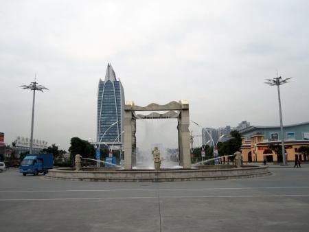 Hua Nan City , Shenzhen, China, February 23, 2011 - The Main Road and roadabout at Hua Nan City                     Editorial